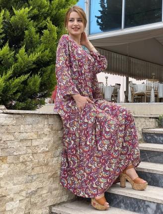 Şal Desen Salaş Elbise