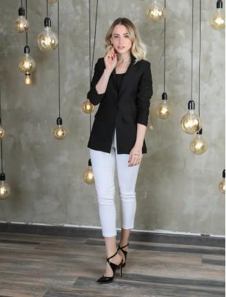 Siyah Astarlı Blazer Ceket