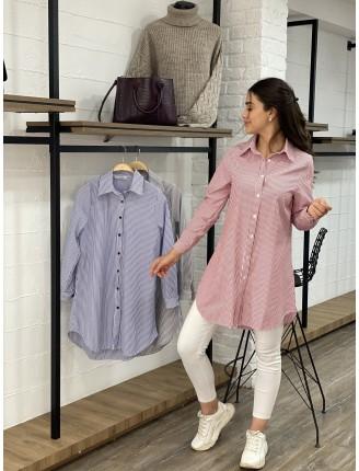 Çizgili Uzun Gömlek