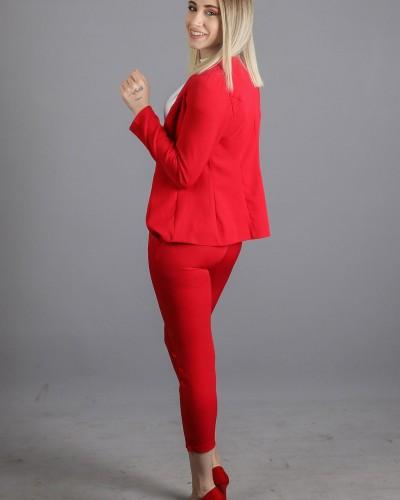 KırmızıHavuç Pantolon Ceket Takım
