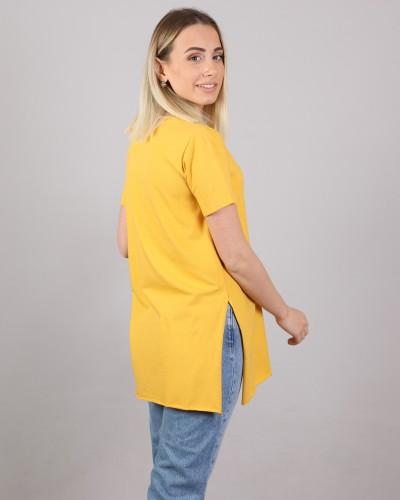 Sarı V Yaka Tshırt