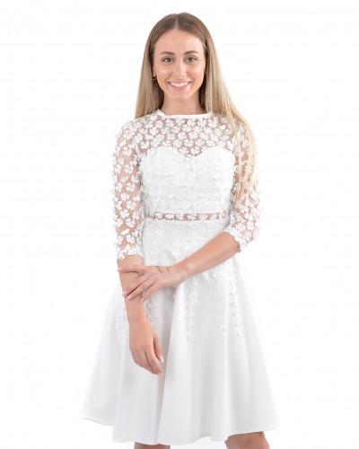 Beyaz Papatya Elbise
