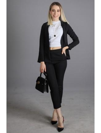 Siyah Havuç Pantolon Ceket Takım