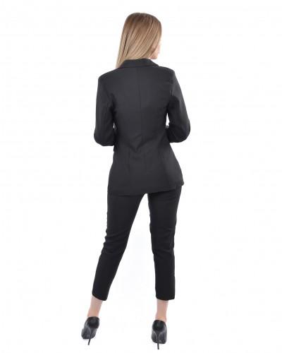 Siyah Astarlı Blazer Ceket Takım