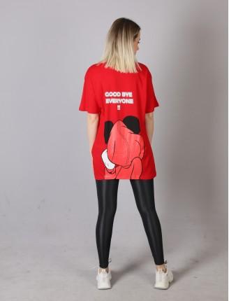 Kırmızı Şapkalı Mickey T-Shirt