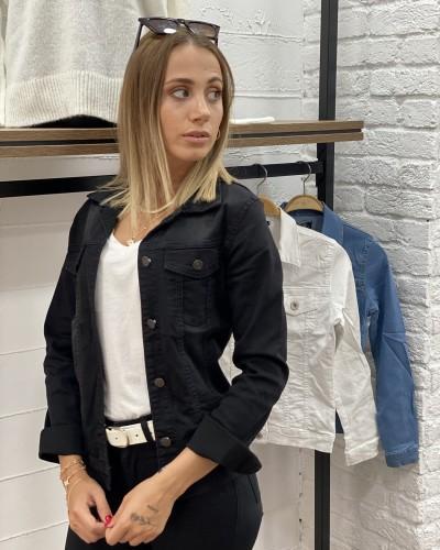 Siyah Kısa Denim Ceket