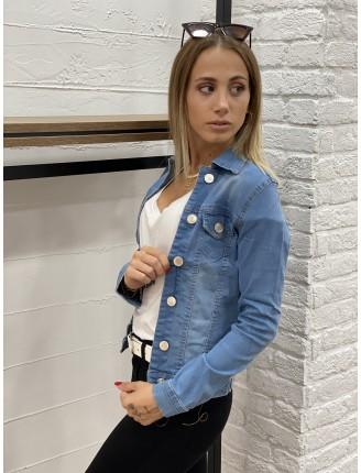 Mavi Kısa Denim Ceket