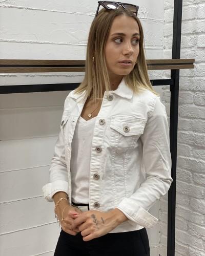 Beyaz Kısa Denim Ceket