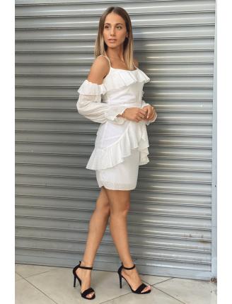 Kelebek Şifon Elbise-SK496