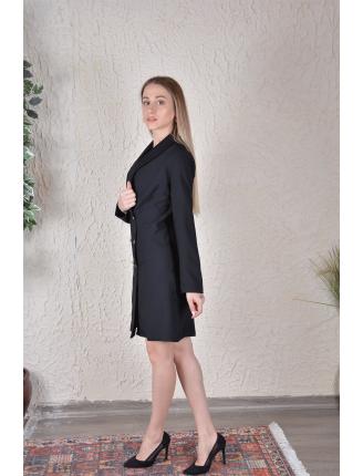 Kruvaze Yaka Ceket Elbise