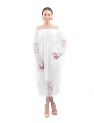 Beyaz Madonna Tül Elbise