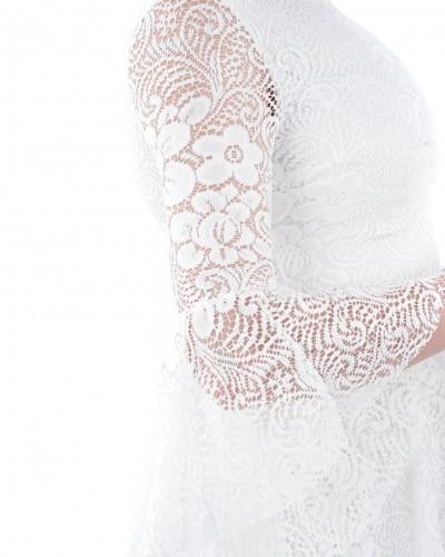 Beyaz İspanyol Güpür Elbise