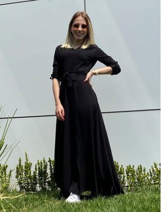 Siyah Düz Gömlek Elbise