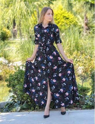 Karanfil Çiçek Gömlek Elbise