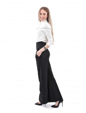 Siyah Boru Paca Pantolon M013