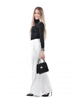 Beyaz Boru Paca Pantolon