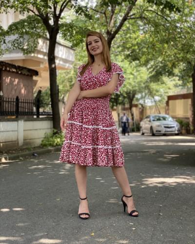 Bel lastik Papatya Elbise