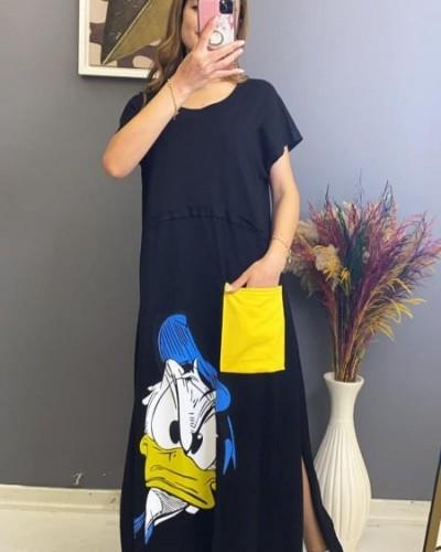 Duffy Baskılı Penye Elbise